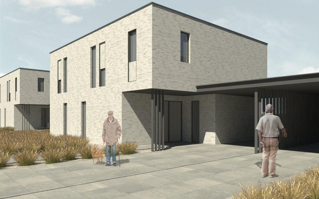 Drie nieuwbouwwoningen in Tessenderlo, Schotermolen, verhuurd.